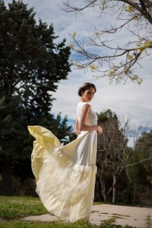 Light yellow wedding dress - www.etsy.com/shop/Vasya