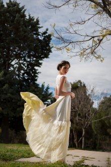 Light yellow wedding dress - www.etsy.com/shop/Vasya