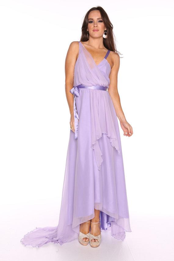 Lilac wedding dress for Best etsy wedding dress shops