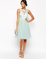 Lipsy VIP Laser Cut Midi Prom Dress With Full Skirt, from asos.com