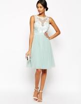 Lipsy VIP Laser Cut Midi Prom Dress With Full Skirt, from asos.com