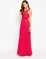 Little Mistress Maxi Dress With Lace Plunge Neck, from asos.com