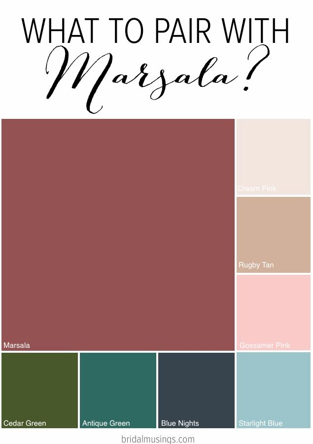 Marsala Wedding Pantones 2015 Colour Of The Year The Merry Bride