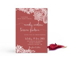 Marsala wedding invitation - www.etsy.com/shop/LisasGraphicDesign