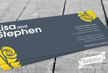 Modern wedding invitation - www.etsy.com/shop/InvitationDesignNZ