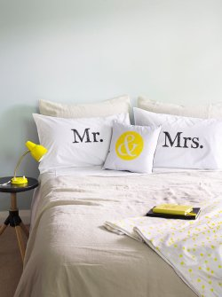 Mr & Mrs pillowcase covers (wedding gift) - www.etsy.com/shop/TheArtRoomNZ