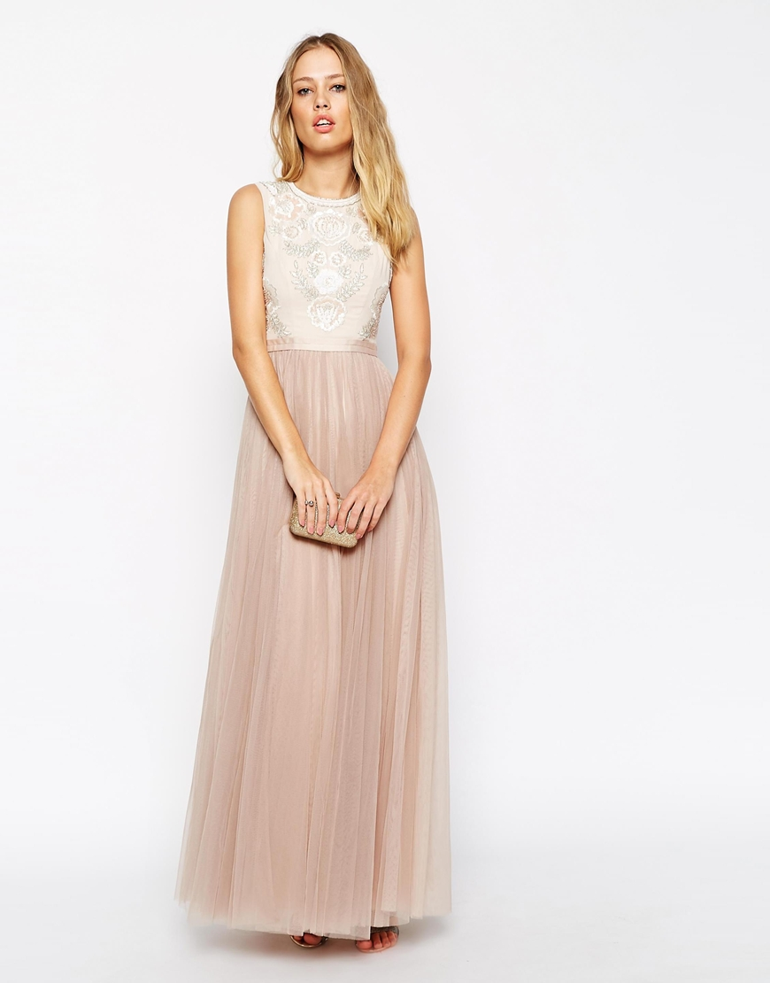 needle and thread embellished rose lace maxi dress from the merry bride. Black Bedroom Furniture Sets. Home Design Ideas