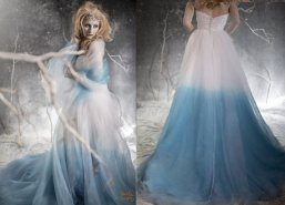 Ombre blue wedding dress - www.etsy.com/shop/StaysiLeeCouture