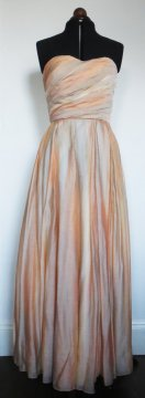 Peach watercolour wedding dress - www.etsy.com/shop/EKBRIDAL