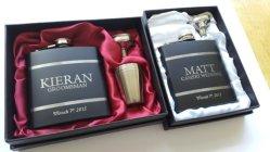 Personalised groomsmen hip flasks - www.etsy.com/shop/Laserlinx