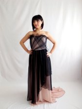 Pink and black wedding dress - www.etsy.com/shop/AliceCloset