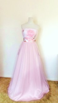 Pink wedding dress - www.etsy.com/shop/Shantique