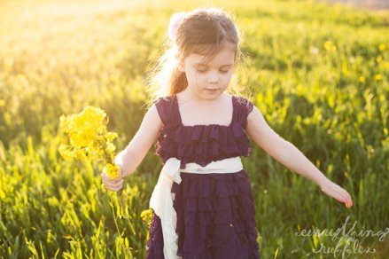 Purple flower girl dress - www.etsy.com/shop/EverythingRuffles