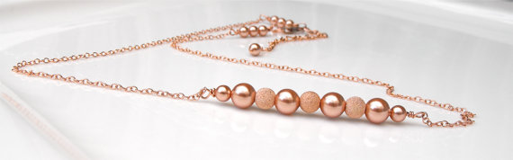 Rose gold necklace - www.etsy.com/shop/LuxuryTouchCreations