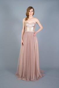 Rose gold wedding dress - www.etsy.com/shop/PantoraBridal