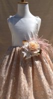 Silk flower girl dress - www.etsy.com/shop/ElenaCollectionUSA
