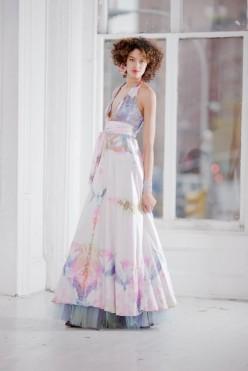 Silk hand-dyed wedding dress - www.etsy.com/shop/momosoho