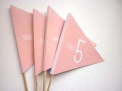 Table number flags - www.etsy.com/shop/WinkDecor