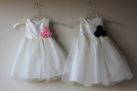 Taffeta and tulle flower girl dresses - www.etsy.com/shop/SasAndAsa