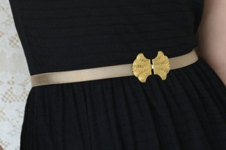 Taupe and gold bridal belt - www.etsy.com/shop/netalyshany