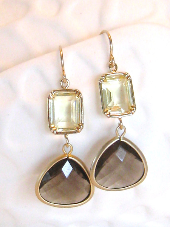 taupe and gold earrings www etsy shop