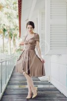 Taupe bridesmaid dress - www.etsy.com/shop/thepeppystudio