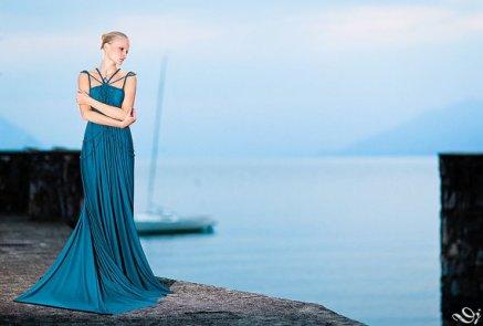 Teal blue wedding dress - www.etsy.com/shop/ROHMY