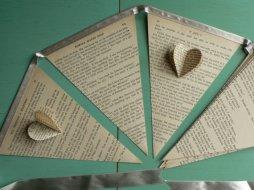 Vintage book bunting - www.etsy.com/shop/PayPahKut