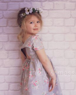 Vintage-style flower girl dress - www.etsy.com/shop/mileyandmoss