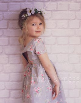 Vintage-style flower girl dress - www.etsy.com/shop/mileyandmoss