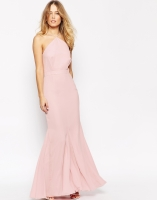 VLabel London Halterneck Maxi Dress With Fluted Hem, from asos.com