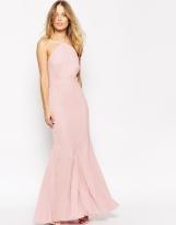 VLabel London Halterneck Maxi Dress With Fluted Hem, from asos.com