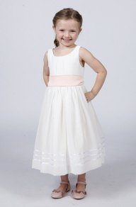 White flower girl dress with sash - www.etsy.com/shop/Matchimony