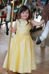 Yellow flower girl dress - www.etsy.com/shop/CarouselWear