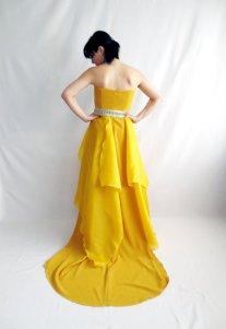 Yellow wedding dress - www.etsy.com/shop/AliceCloset