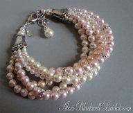 Blush and silver bracelet - www.etsy.com/shop/AlexiBlackwellBridal
