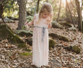 Blush and silver flower girl dress - www.etsy.com/shop/EverythingRuffles