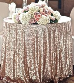 Blush sequin tablecloth - www.etsy.com/shop/SparkleSoiree