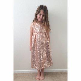 Blush sparkly flower girl dress - www.etsy.com/shop/carkendesign