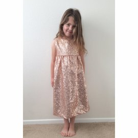 Blush sparkly flower girl dress - www.etsy.com/shop/carkendesign