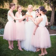 Blush tulle bridesmaid skirts - www.etsy.com/shop/TheLittleWhiteDress