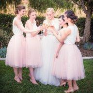 Blush tulle bridesmaid skirts - www.etsy.com/shop/TheLittleWhiteDress