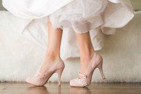 Blush wedding heels - www.etsy.com/shop/walkinonair