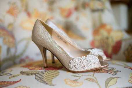 Champagne and lace wedding heels - www.etsy.com/shop/beccaandlouise
