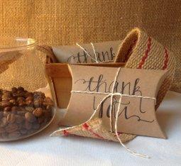 Coffee, cocoa or tea wedding favours - www.etsy.com/shop/AproposRoasters
