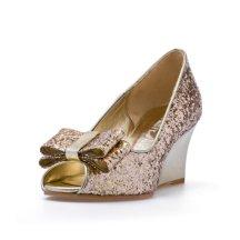 Gold glitter wedges - www.etsy.com/shop/ChristyNgShoes