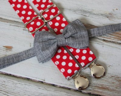 Pageboy suspenders and bow tie - www.etsy.com/shop/CottonKandyShop