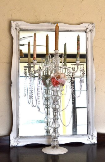 Shabby-chic candelabra - www.etsy.com/shop/Anniesimages