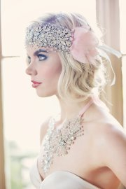 Silver and blush headpiece - www.etsy.com/shop/GibsonBespoke