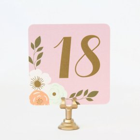 Table numbers - www.etsy.com/shop/TableauParty